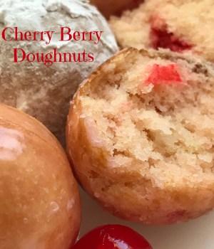 Cherry Berry Doughnut Holes