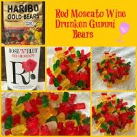 Red Moscato Drunken Gummi Bears