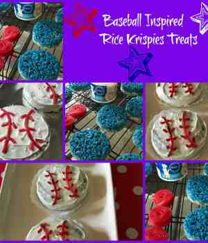 Baseball Themed Krispie Treats