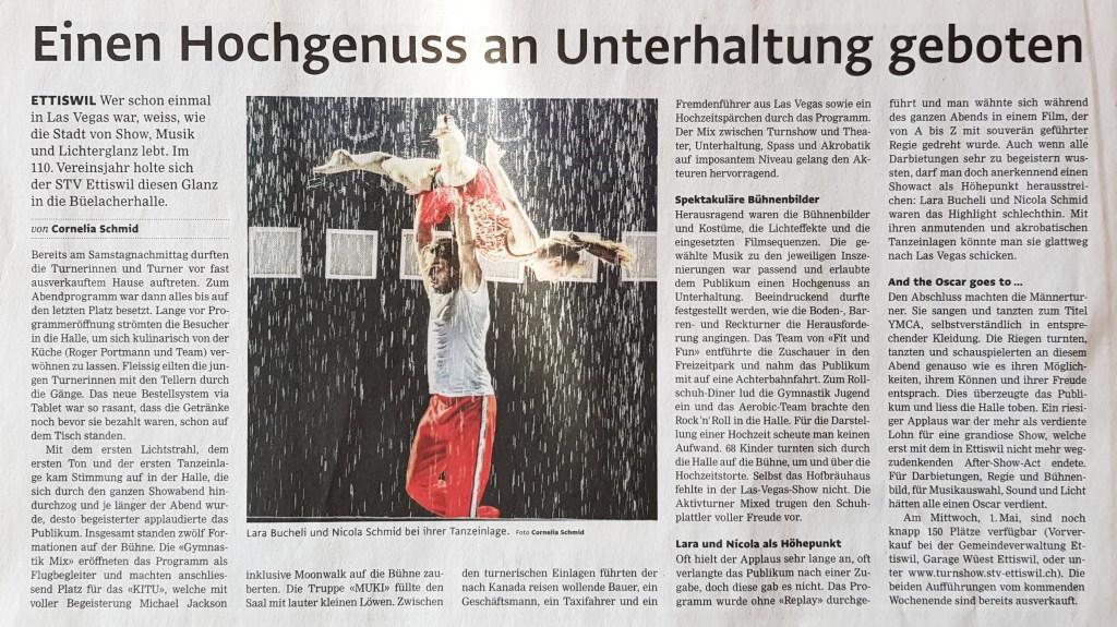 Zeitungsbericht Willisauer Bote