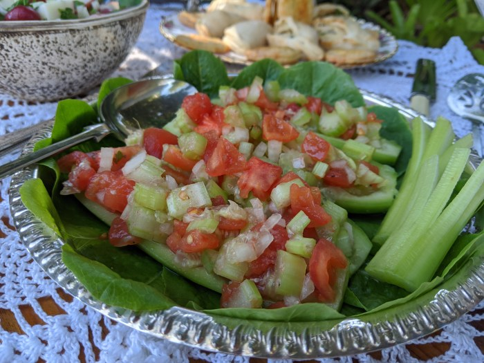 cucumber boats, recipe from 1937