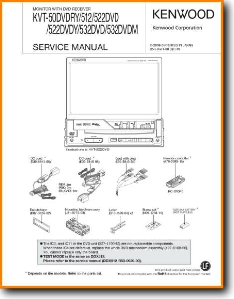 kenwood kvt532dvd solid state amp receiver  on demand pdf download   english