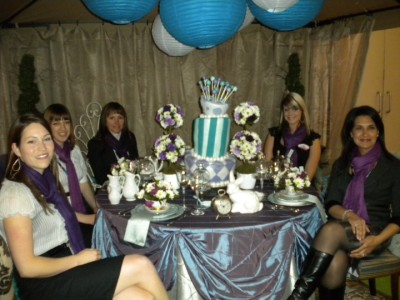 A few of my decorating girls and I put this mad hatters tea party table together for the Canadian Special Events Magazine Expo. We were in the student tabletop competition and had won for best overall visual display!
