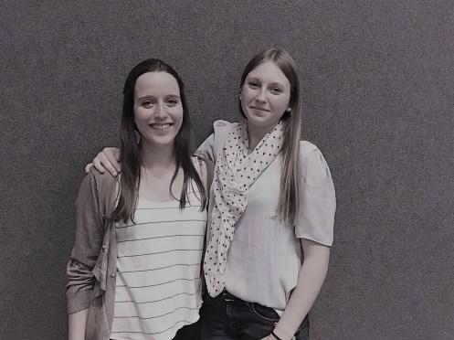 Neue gewählte Vertreter des Jugendteams: Alice Winter, Tara Litschko-Schmid