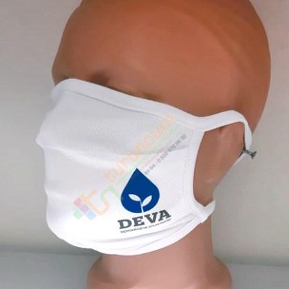 Deva Partisi Logo Baskılı Yıkanabilir Kumaş Maske Siyasi Parti Kongre Maskesi