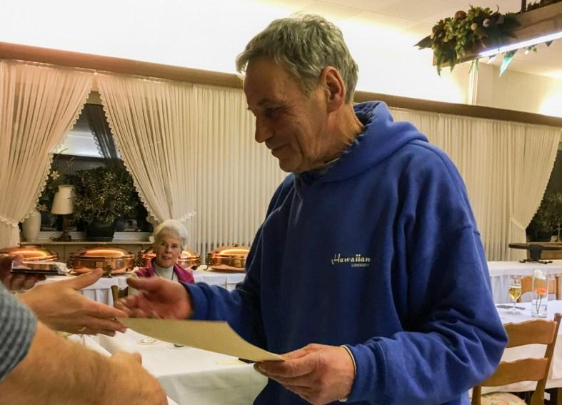 Ehrungen bei der Mitgliederversammlung 2018: Willi Plückelmann