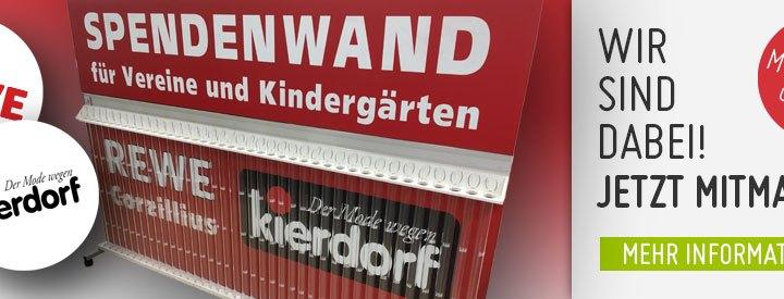 Große Neumühler Spendenaktion mit Kierdorf, REWE und dem TuS
