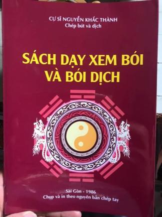Sách Dạy Xem Bói Và Bói Dịch - Cư Sĩ Nguyễn Khắc Thành