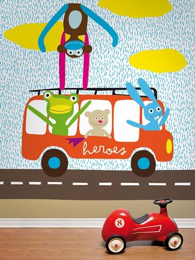 murales infantiles coordonne 2 Murales infantiles y papeles pintados de Coordonne