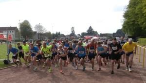 Und hier der Start der 5 km Läufer/innen