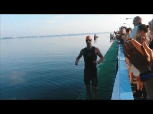 aus dem Wasser zur nächsten Runde