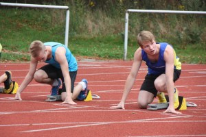 Söhnke Draeger beim Start über die 100 m
