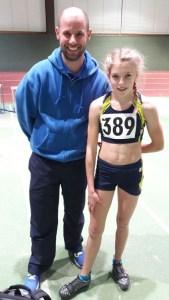 Marie und Trainer Björn Lippa