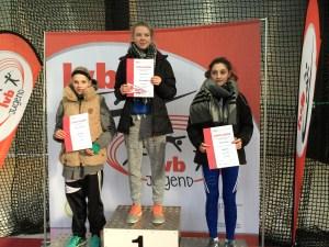 Siegerehrung Speerwurf  Platz 2 Marie Dehning