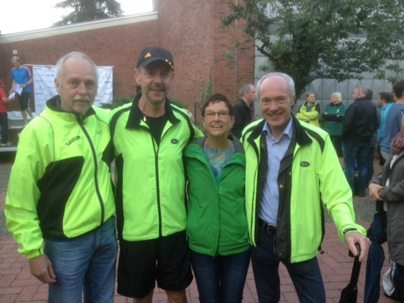 unsere erfolgreichen Senioren vlnr: Nick Wendel, Detlef Müller, Claudia Bührke und Hans-Jürgen Köhler