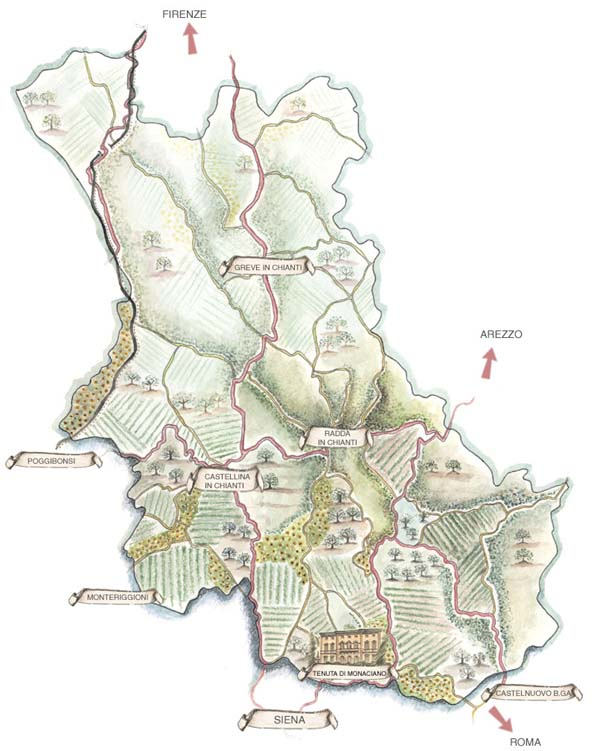 Etruscan Map Land Map