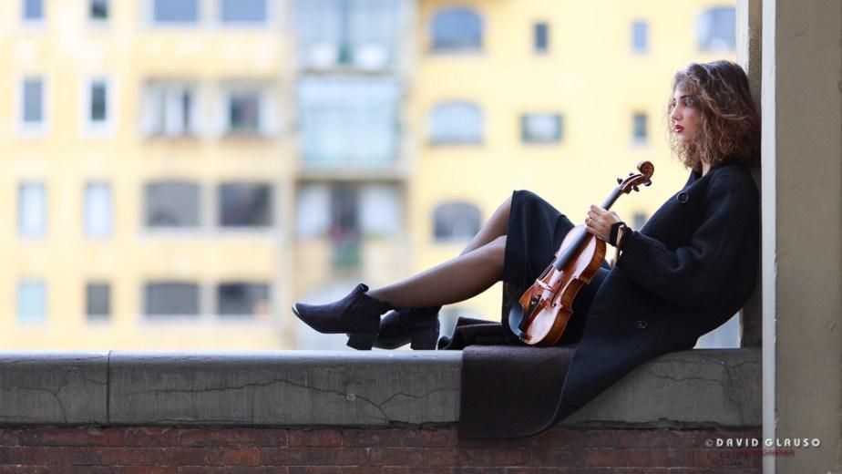 ragazza violino, david glauso