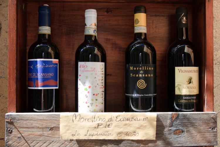 Bottiglie di Morellino di Scansano DOCG