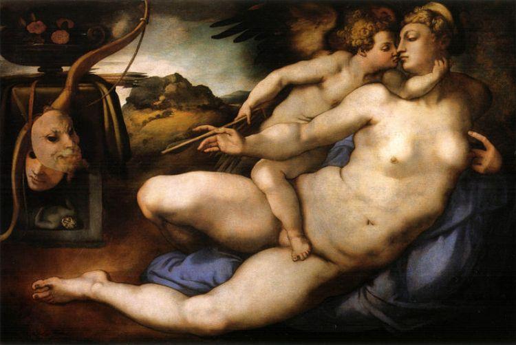 Alla Galleria dell'Accademia di Firenze si può ammirare l'opera Venere e Amore del Pontormo