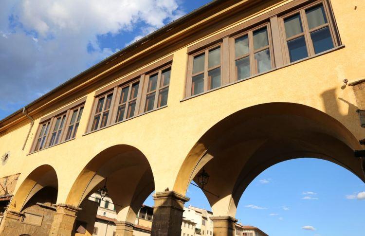 Corridoio Vasariano sopra Ponte Vecchio