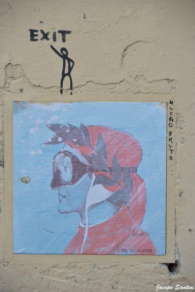 Al Circoli ARCI di Castellina Scalo a Monteriggioni un progetto di riqualificazione urbana che coinvolge artisti contemporanei, tra cui BLUB