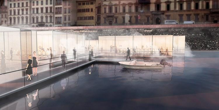 Bridge of love è il ponte temporaneo sull'Arno, progettato da Claudio Nardi per Firenze4ever 13 by LuisaViaRoma, per l'inaugurazione di Pitti Uomo 90