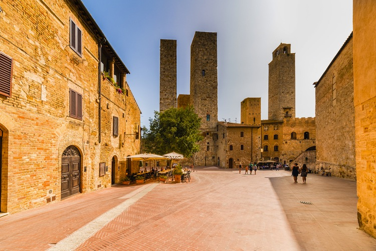 Le torri di San Gimignano sono state dichiarate Patrimonio dell'Umanità dall'UNESCO nel 1990 e sono uno dei must in un viaggio in Toscana
