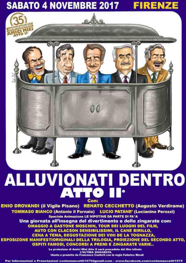 Al Cinema Odeon il 4 novembre 2017 presentazione de il Conte Mascetti, il nuovo vino de La Tognazza, etichetta vinicola di Gian Marco Tognazzi.