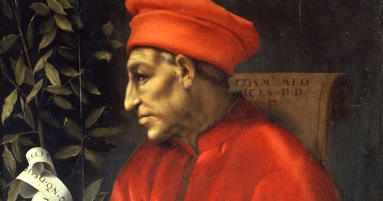 Ritratto di Cosimo il Vecchio, il primo signore de facto della signoria di Firenze.