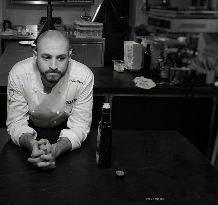 Andrea Perini, giovane chef fiorentino del ristorante Al588, Resort Borgo I Vicelli, è stato eletto Ristoratore dell'Anno da Flos Olei 2019