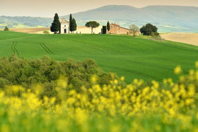 La Val d'Orcia è una zona della Toscana dichiarata Patrimonio dell'Umanità dall'UNESCO.
