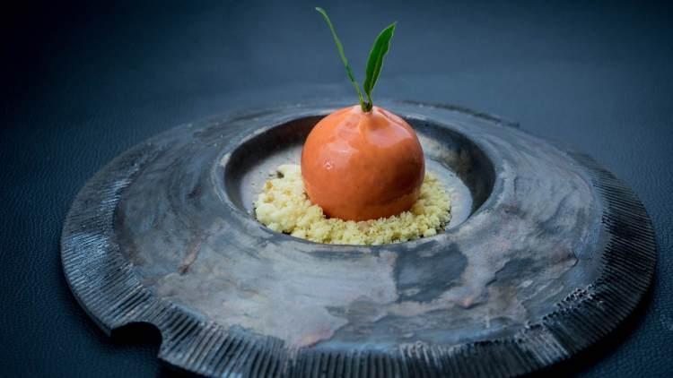 Spacca Mandarino, piatto dello chef Edoardo Tilli del Podere Belvedere