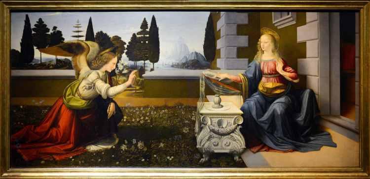 L'Annunciazione di Leonardo da Vinci si trova a Firenze
