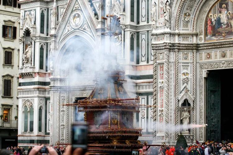 Lo Scoppio del Carro a Firenze la domenica di Pasqua