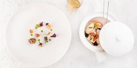 Bollito di mare dello chef Landi del ristorante Lunasia di Viareggio