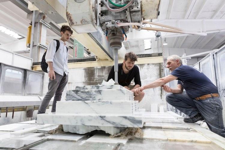 Premio scultura 2018 della Fondazione Henraux, con Anto Milotta e Zlatolin Donchev