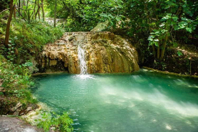 Le acque termali di Bagni San Filippo in Val d'Orcia, Toscana