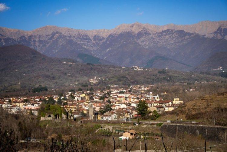 Vista di Aulla, uno dei borghi della Lunigiana