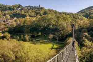 Il Ponte Sospeso delle Ferriere in Toscana, è uno dei ponti sospesi più lunghi del mondo