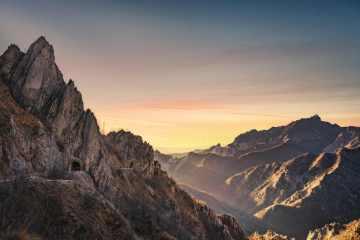 Le Alpi Apuane al tramonto