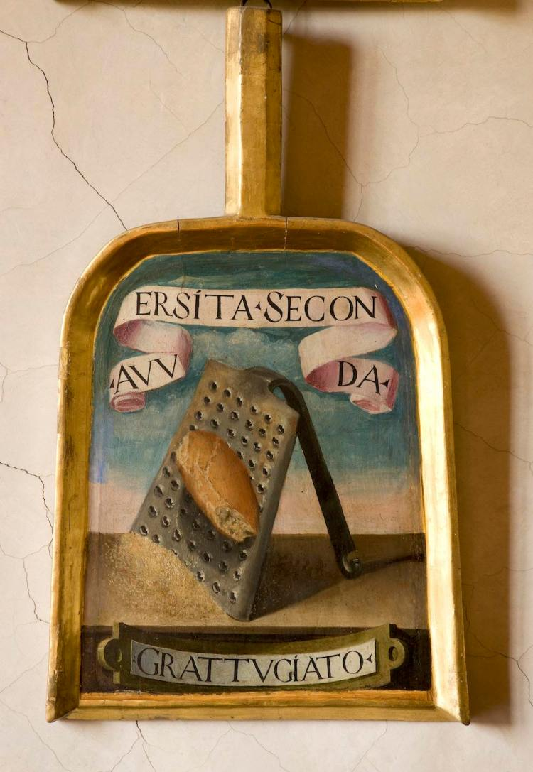 """La pala di """"Grattugiato"""" uno degli Accademici della Crusca"""
