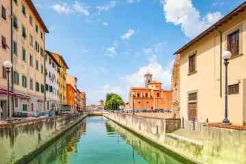 Canali nel quartiere Venezia Nuova a Livorno