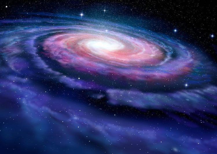 Rappresentazione grafica di una galassia a spirale simile alla Via Lattea