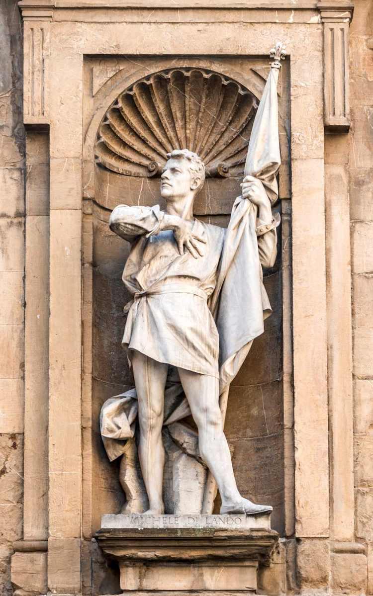 Michele di Lando fu il leader della Rivolta dei Ciompi nel 1378, contro l'Arte della Lana