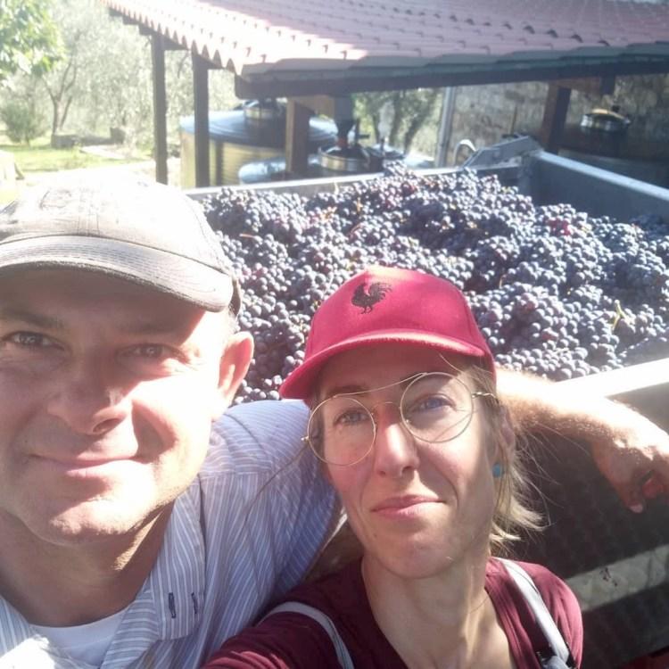 Saverio Basagni e Fabiana Giuliani dell'azienda Monterotondo a Gaiole in Chianti