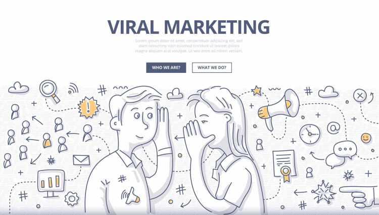 Rappresentazione grafica del concetto di viral marketing