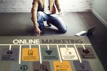 I canali dell'Online Marketing e businessman