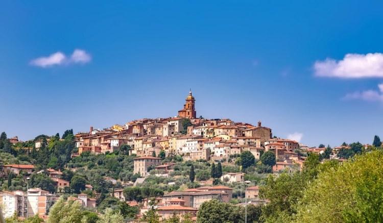 Veduta del borgo di Sinalunga nella Valdichiana senese