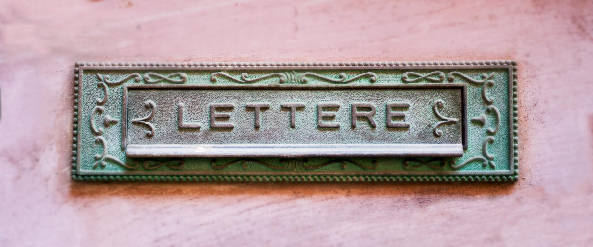 Old rustic letter box