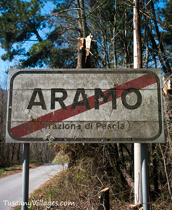 Aramo sign, Pescia
